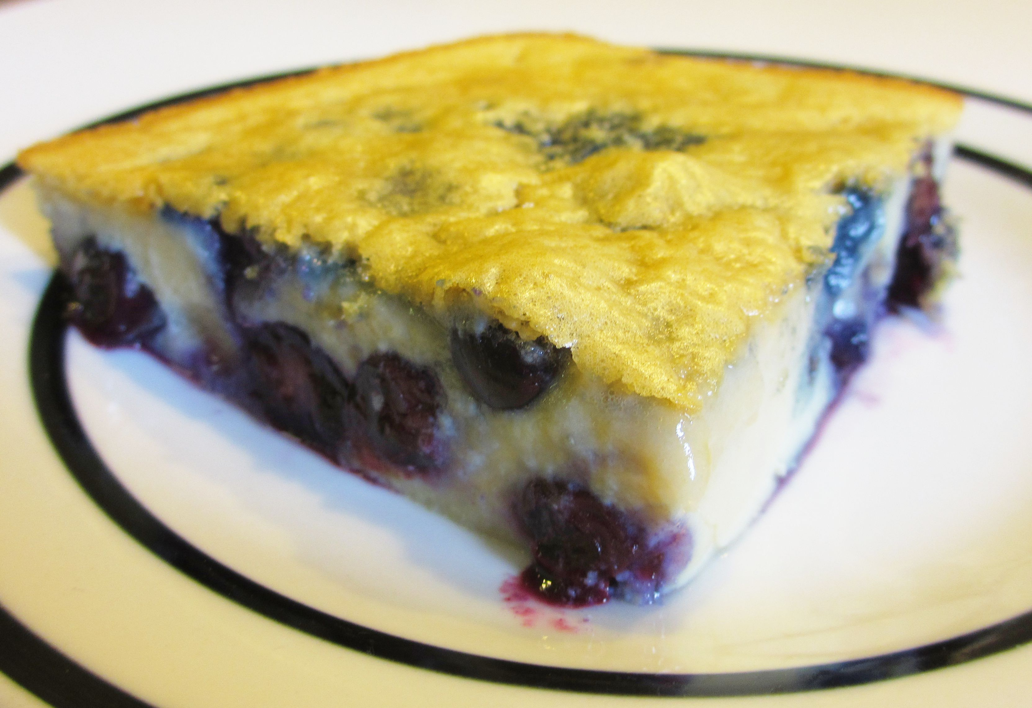 High Protein Blueberry Clafoutis
